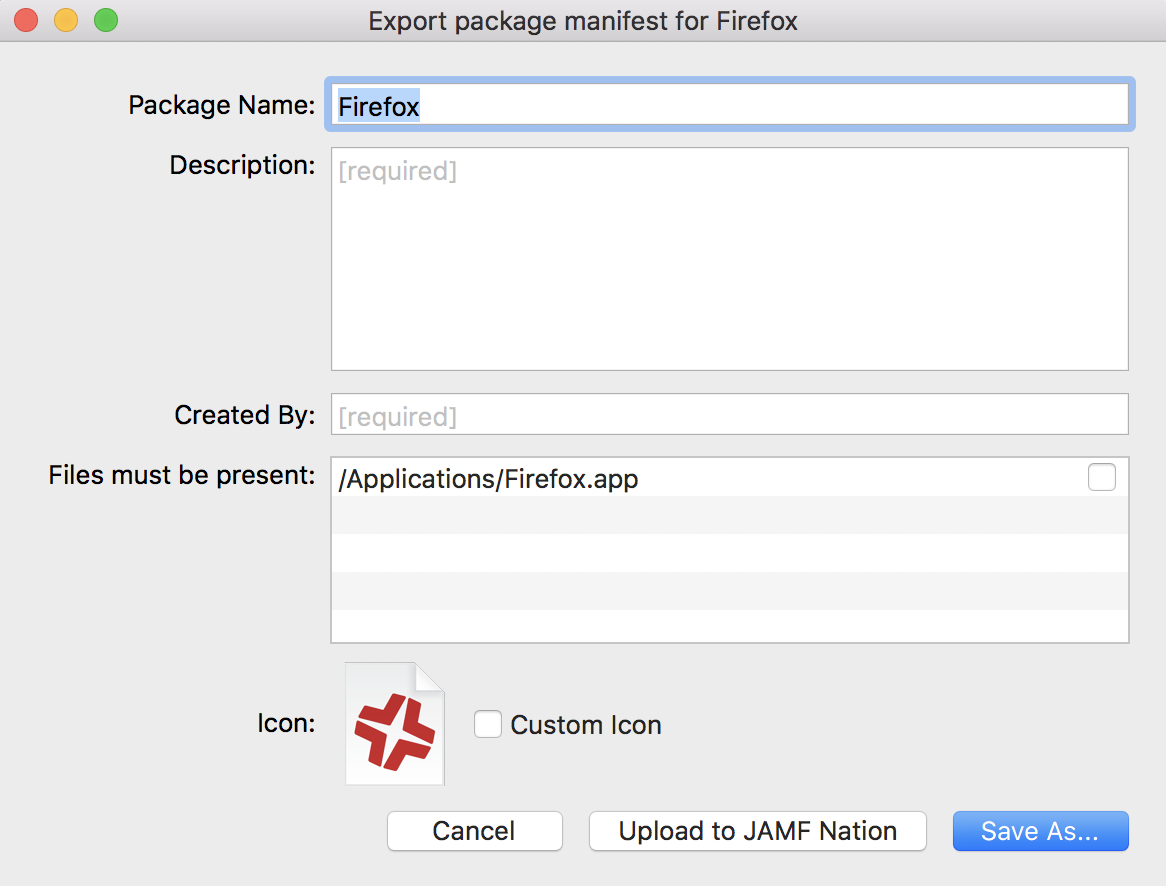 Package Manifests - Composer User Guide | Jamf
