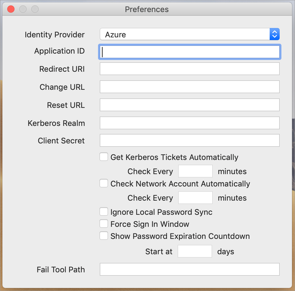 Menu Items - Jamf Connect Verify Administrator's Guide | Jamf