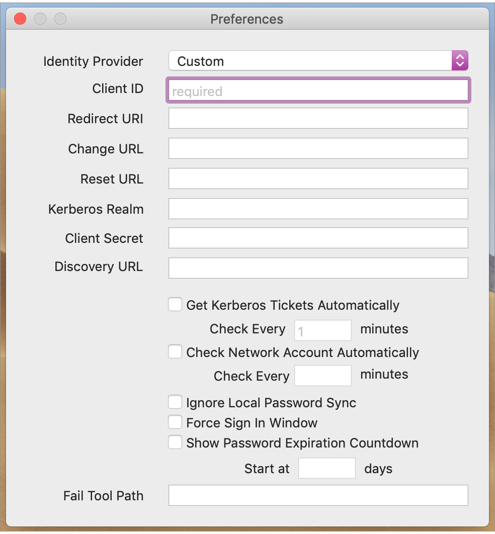 Jamf Connect Verify Menu Items - Jamf Connect